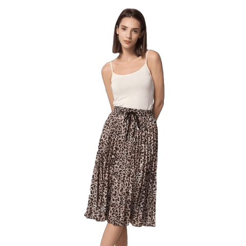 Stylish Leopard Mid Calf Skirt | NineLivesCats
