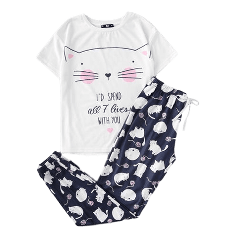 Women's Cat Pajama Set