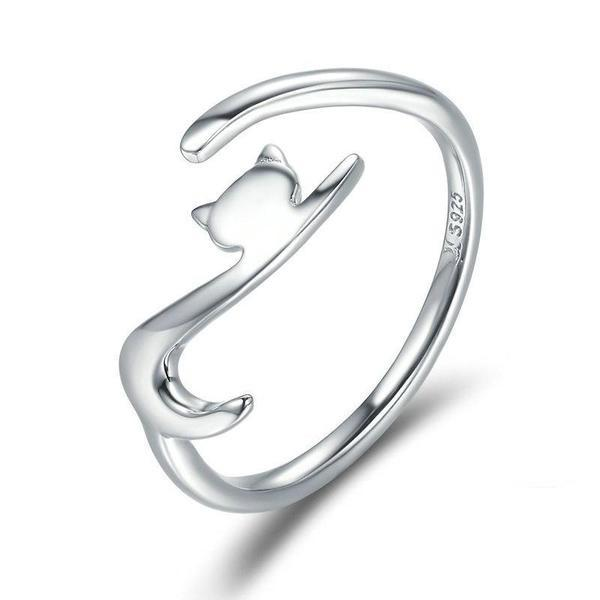 Silver Cat Ring | NineLivesCats