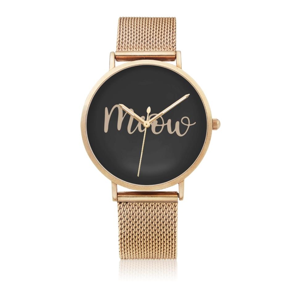 Classic Meow Watch - Black | NineLivesCats