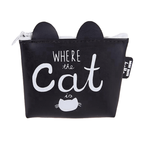 Where The Cat Is Coin Purse