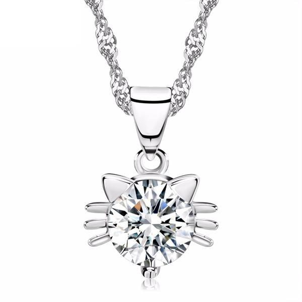 Cristal Diamond Cat Necklace