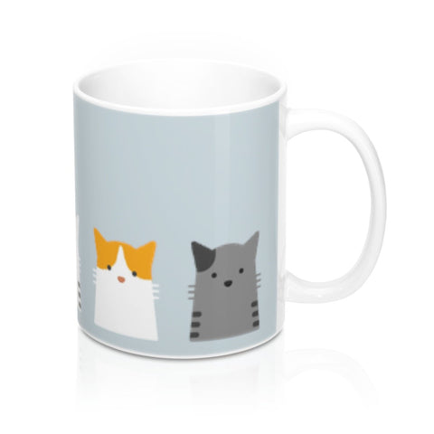 5 Cats Coffee Mug