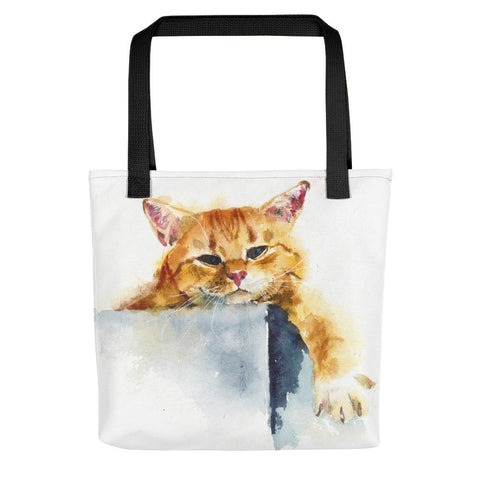 Watercolor Cat Tote bag - Chloe