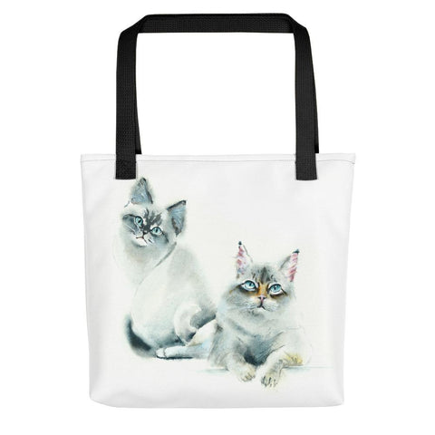 Watercolor Cat Tote bag - Nala & Jasper