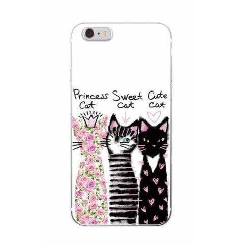 Princess Cat & Friends iPhone case