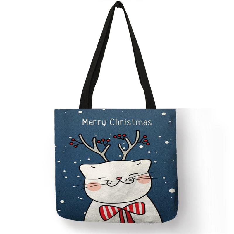 Merry Christmas Kitty Tote Bag