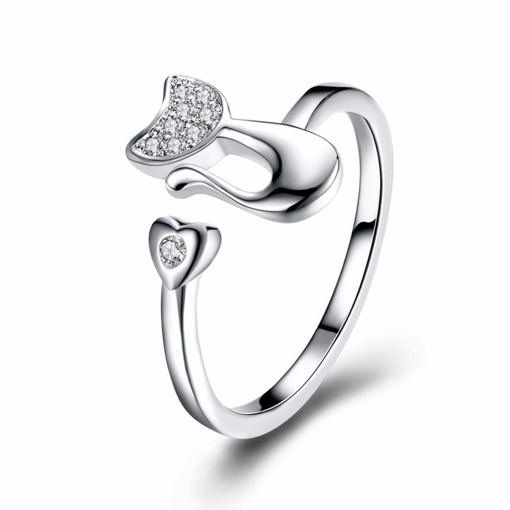 Silver heart Resizable ring