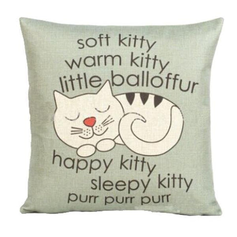 Decorative Cat Pillowcase | NineLivesCats