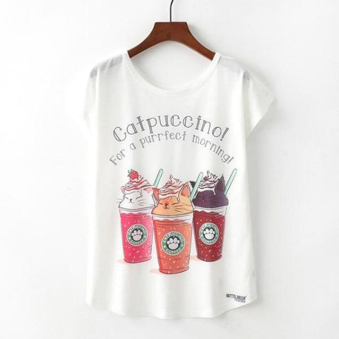 Catpuccino T Shirt | NineLivesCats