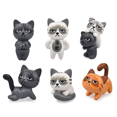 Grumpy Cat Decoration Miniatures 6pcs Set
