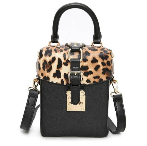 Leopard min box shoulder bag | NineLivesCats