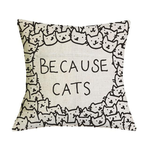 Because Cats Pillow case | NineLivesCats