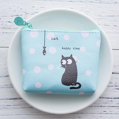 Happy time cat Coin Purse