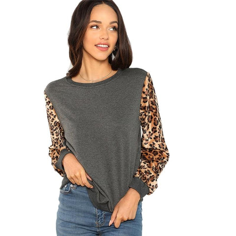 Grey Leopard Pullover | NineLivesCats