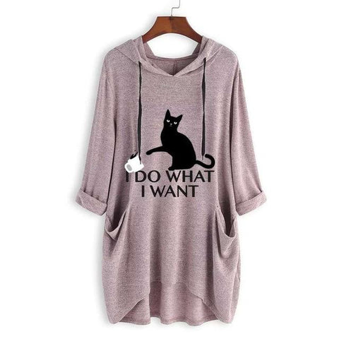 I Do What I Want Cat Ear Hooded top