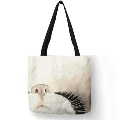Watercolor Painted Cat Tote Bag