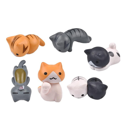 Cat Decoration Miniatures 6pcs set