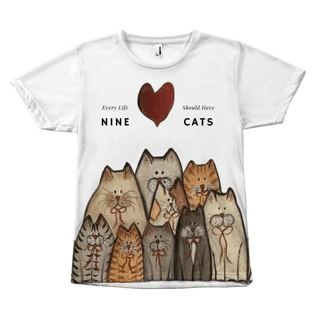 Every Life Should Have Nine Cats T-shirt