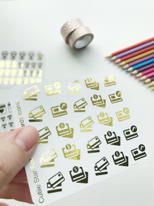 FOIL Stickers - Credit Card Gold Foil