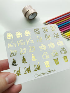 FOIL Stickers - Household chores