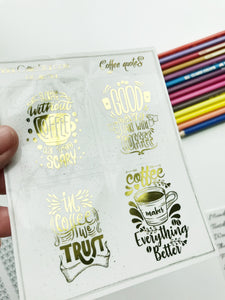 FOIL Stickers - Coffee Full Boxes