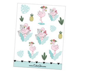 Sweet Flamingos Stickers