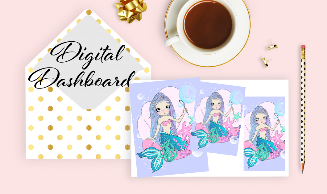 DIGITAL PRINTABLE Mermaid Dashboards - 6 Sizes