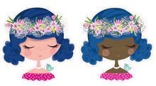 Die Cuts Stickers SET of 2 die cuts - FLOWER CROWN