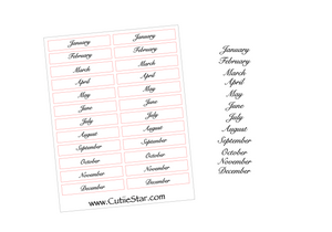 Functional Planner Stickers MONTHS