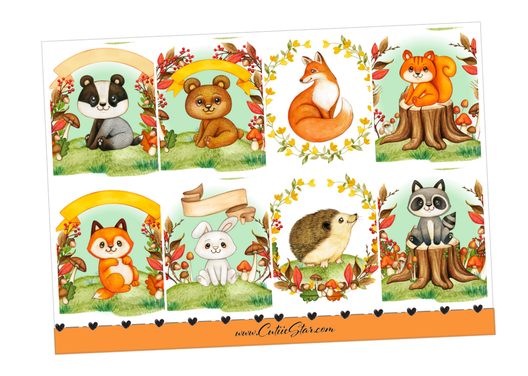Stickers Fall Autumn Woodland