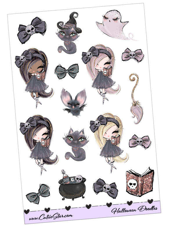 Stickers Halloween Girls