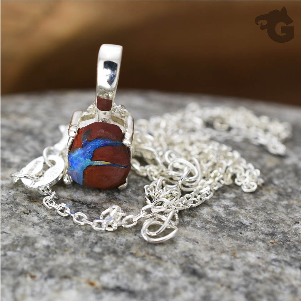 Australian Boulder Opal necklace 'One & Only'