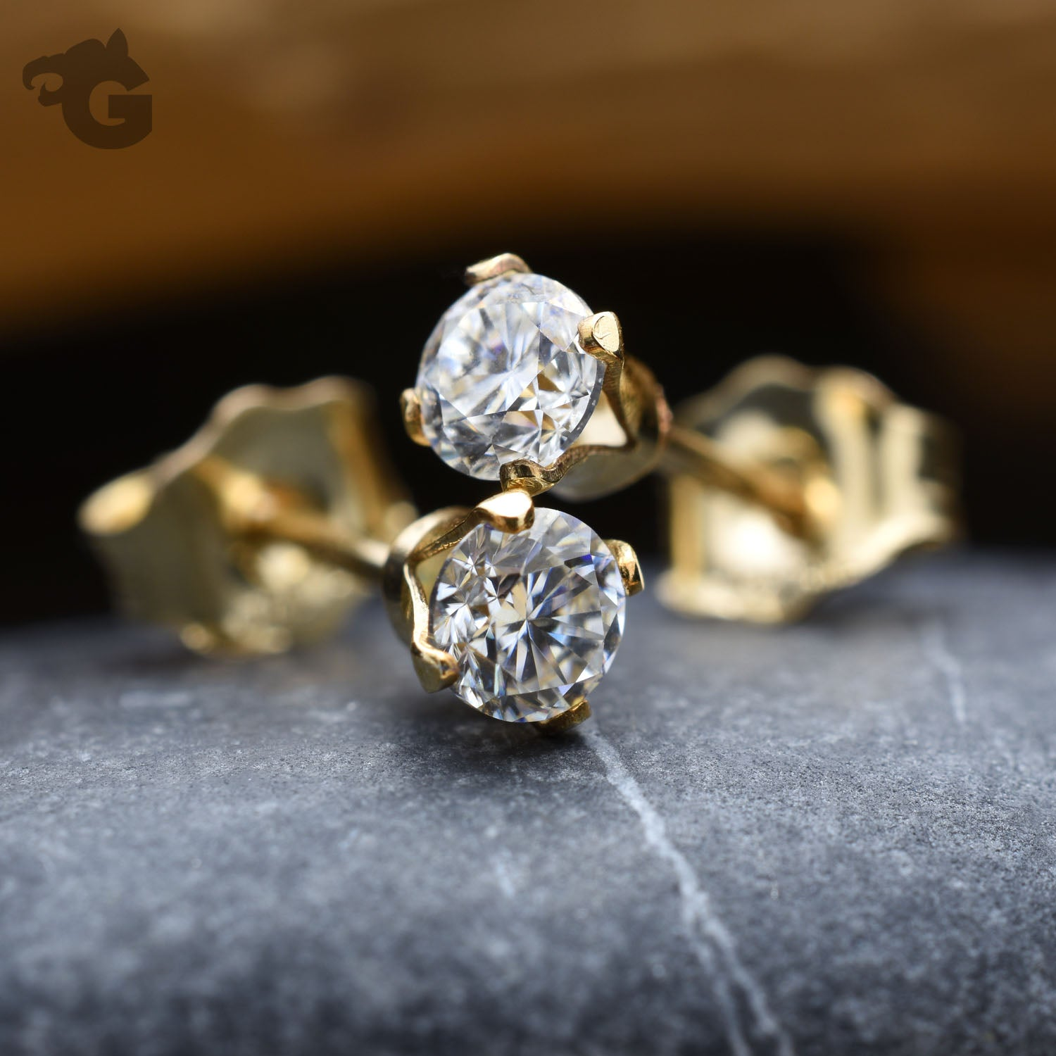 3mm Diamonds studs 14K Gold Filled