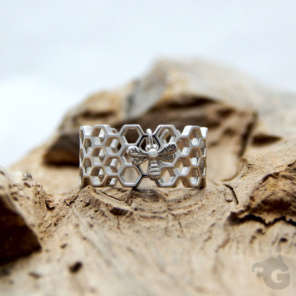 honeycomb ring silver glermes.com