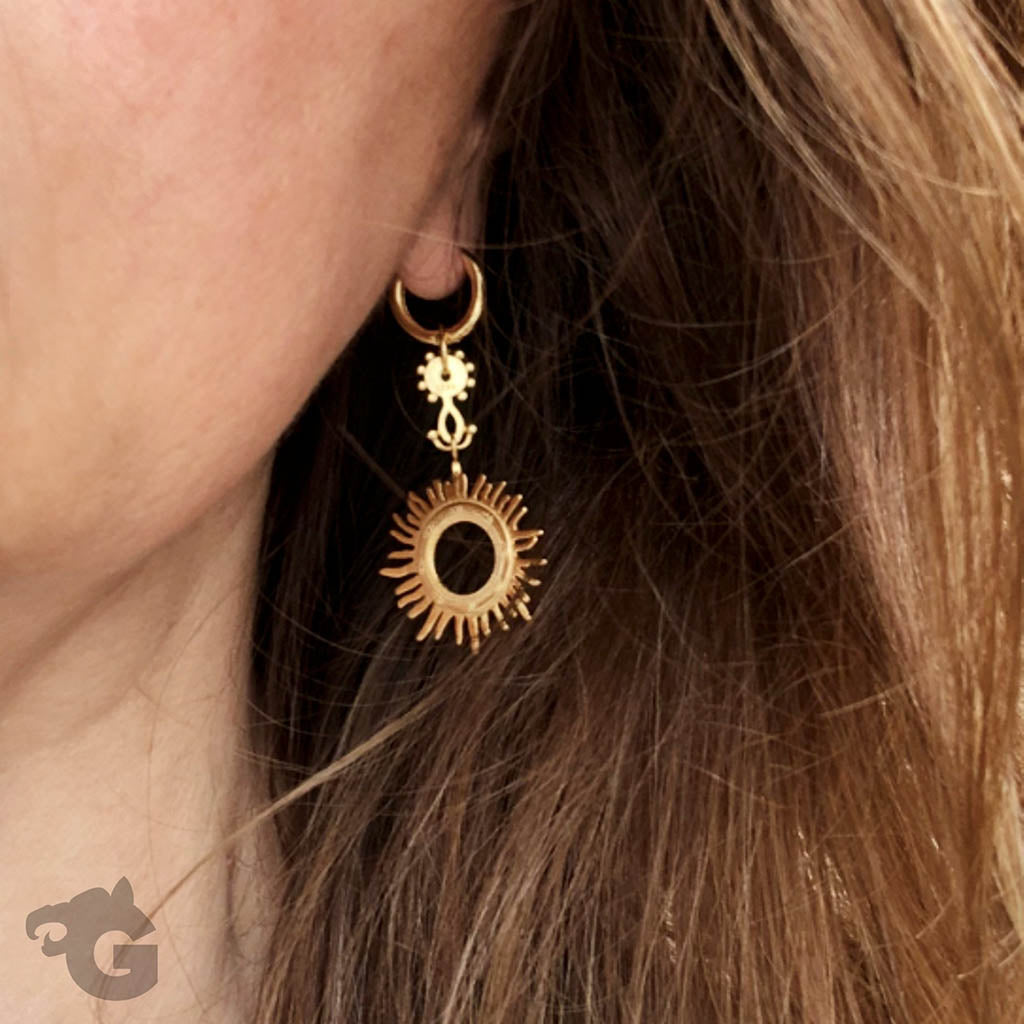Sunburst Tribal drop earrings