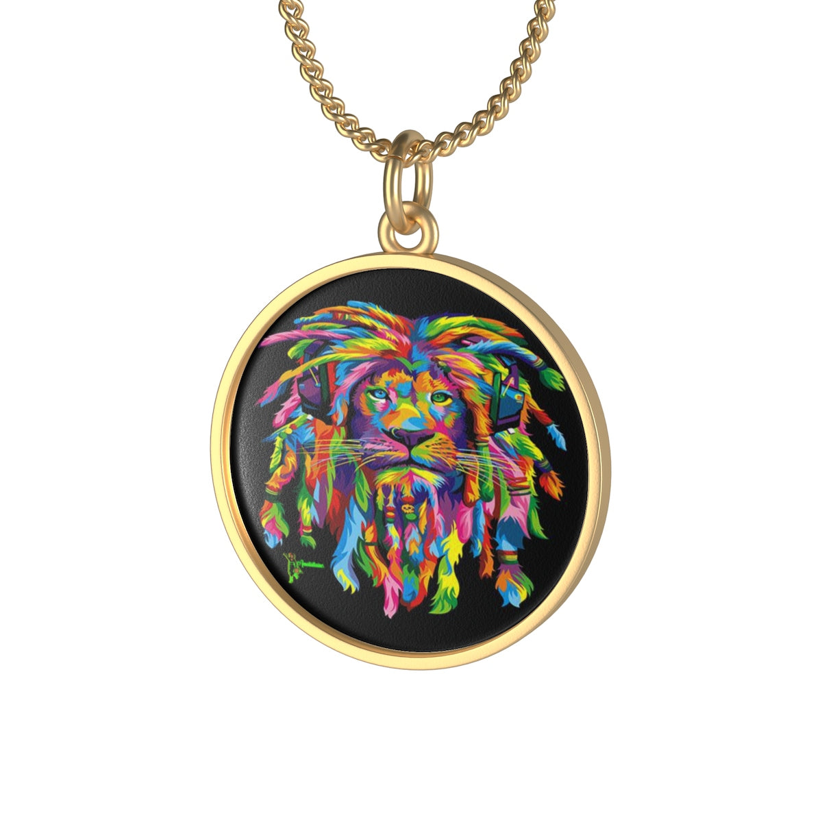One Size Coin Pendant Diameter, in 0.78 Lotus Coin Pendant Diameter, in 0.66 Tile Pendant Length, in 0.86 Tile Pendant Width, in 0.23 This single loop necklace emphasizes individuality with a classic aesthetic. Made in USA.