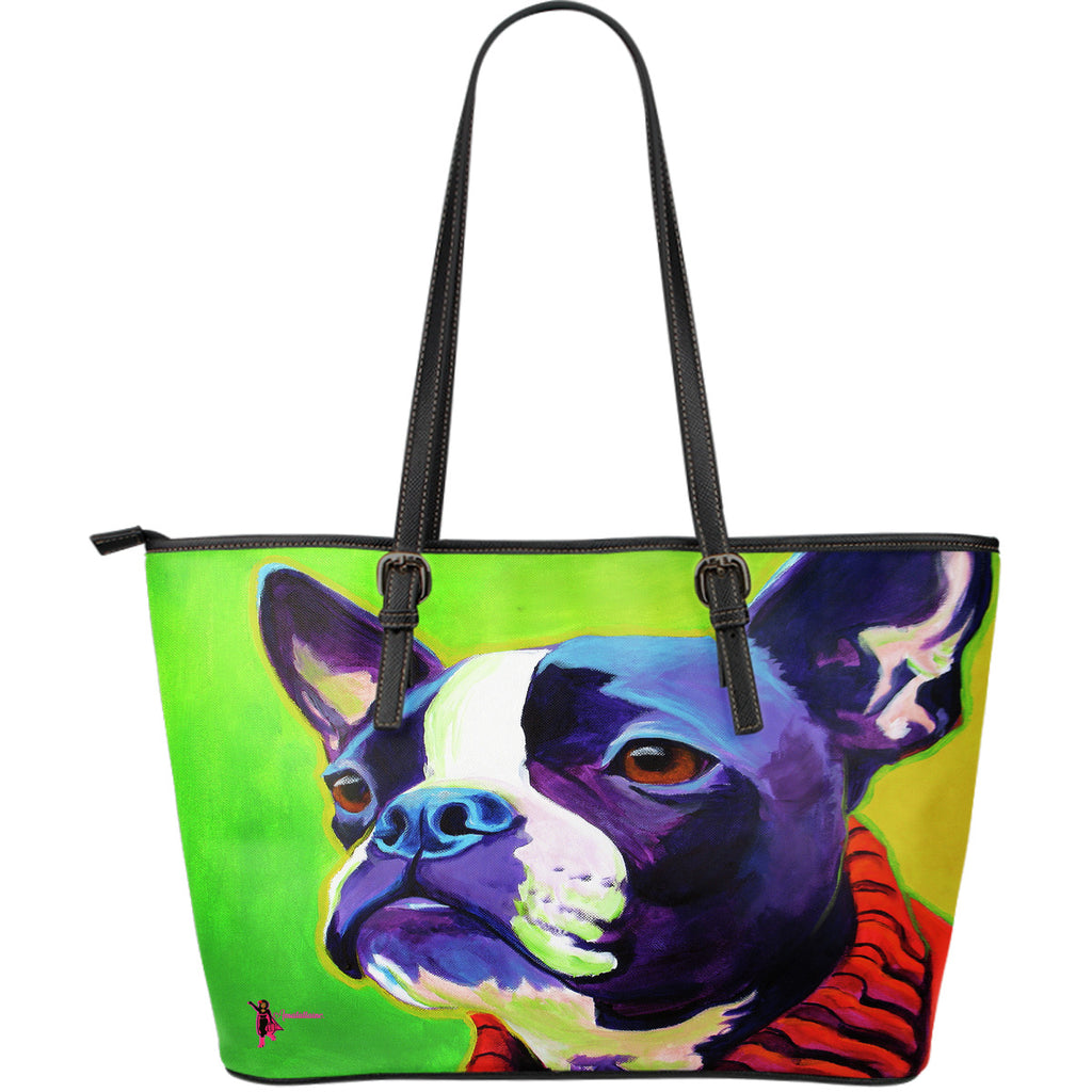 Amatullainc. Ridley Dog Leather Tote Bags are custom-made-to-order and handcrafted to the highest quality standards. This beautiful bag features a Double-Sided Print. Manufactured with premium water-resistant PU leather. Features comfortable and sturdy carrying straps with high-quality.