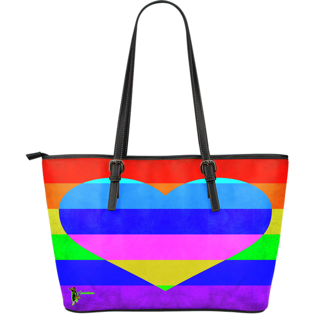 Amatullainc. Rainbow Love Leather Tote Bags are custom-made-to-order and handcrafted to the highest quality standards. This beautiful bag features a Double-Sided Print. Manufactured with premium water-resistant PU leather. Features comfortable and sturdy carrying straps with high-quality stitching for long-lasting durability. Finished with multiple interior compartments to keep your items organized.