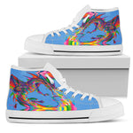 Fantasy Dragon Women's High Top Shoe [Set B]