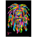 Amatullainc. Lion Rasta Posters are versatile, beautiful and elegant posters with a rectangular shape which delivers sharp, clean, glossy finish images with stunning color and vibrancy. Production time 3-4 business days while your order is hand-crafted, boxed packaged and shipped from our facility.