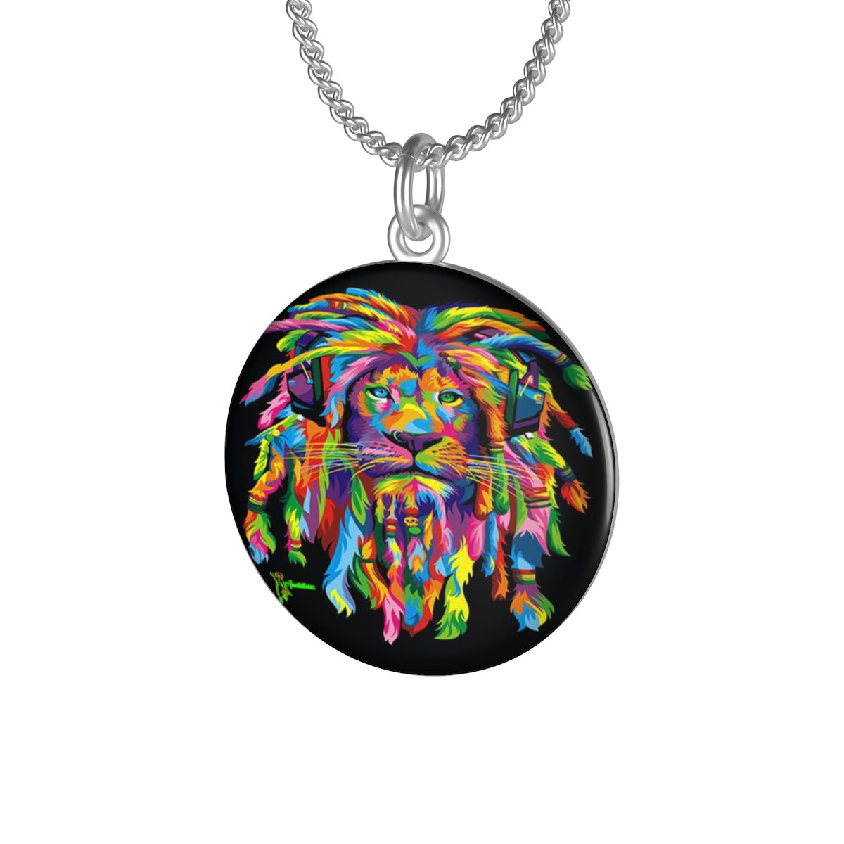 Lion Rasta Single Loop Necklace