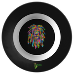 "Amatullainc. Lion Rasta Bowl 8.5"" 100% Manufactured in the U.S.A. Revolutionary ThermoSāf® Polymer. Safe for use in Microwave, Convection or Conventional Ovens Dishwasher (Commercial & Residential) BPA- Free Contains No Melamine or Formaldehyde"