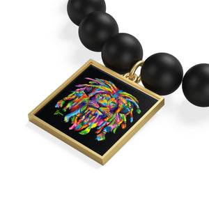 One Size Bracelet Diameter , in 2.16 Coin Pendant Diameter, in 0.66 Tile Pendant Diameter, in 0.66 The onyx bracelet is expertly hand cast and polished in the USA and features vibrant, textured and glossy enamel-style coloring.