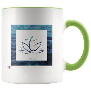 Amatullainc. Lotus Mug is a high-quality 11oz. Ceramic white accent mug has a premium hard coat that provides crisp and vibrant color reproduction sure to last for years. Perfect for all hot & cold beverages which have a High Gloss + Premium White Finish with ORCA Coating Dishwasher and Microwave Safe.