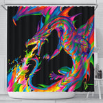 Fantasy Dragon Shower Curtain