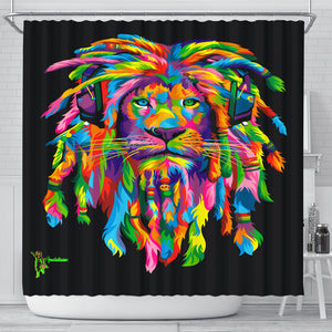Amatullainc. Lion Rasta Shower Curtains are custom-made-to-order and handcrafted to the highest quality standards with premium polyester waterproof material for maximum color, vibrancy, and exceptional durability. Printed using state-of-the-art wide-format printers which offer uncompromising gallery quality.