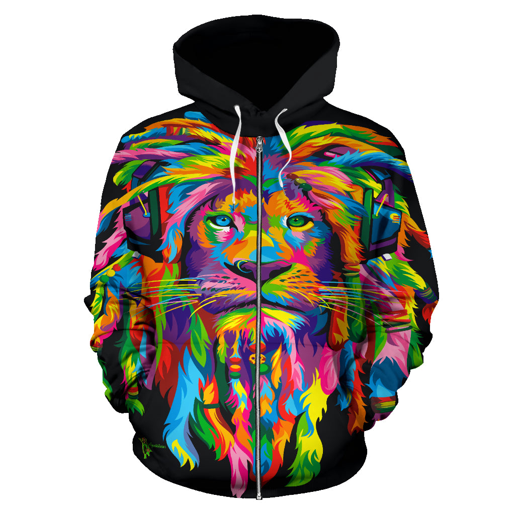 Amatullainc. Lion Rasta All-Over-Hoodie's are custom-made-to-order and handcrafted to the highest quality standards. Our hoodies constructed from a premium polyester blend that is ultra-soft and incredibly comfortable.
