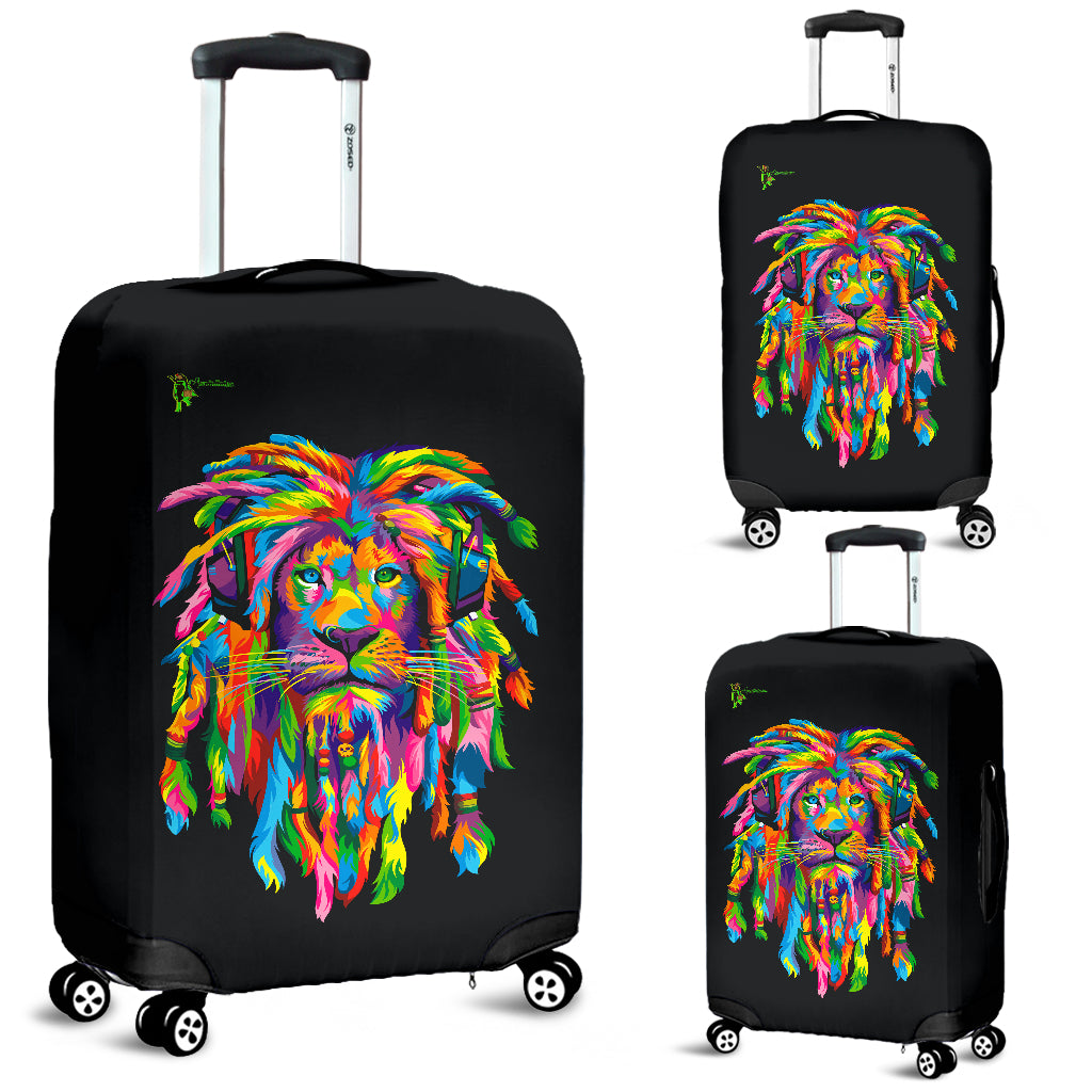 Amatullainc. Lion Rasta Luggage Covers are custom-made-to-order and handcrafted to the highest quality standards. Add style and personality to your luggage while protecting it from scratches, spills, stains and more while traveling.