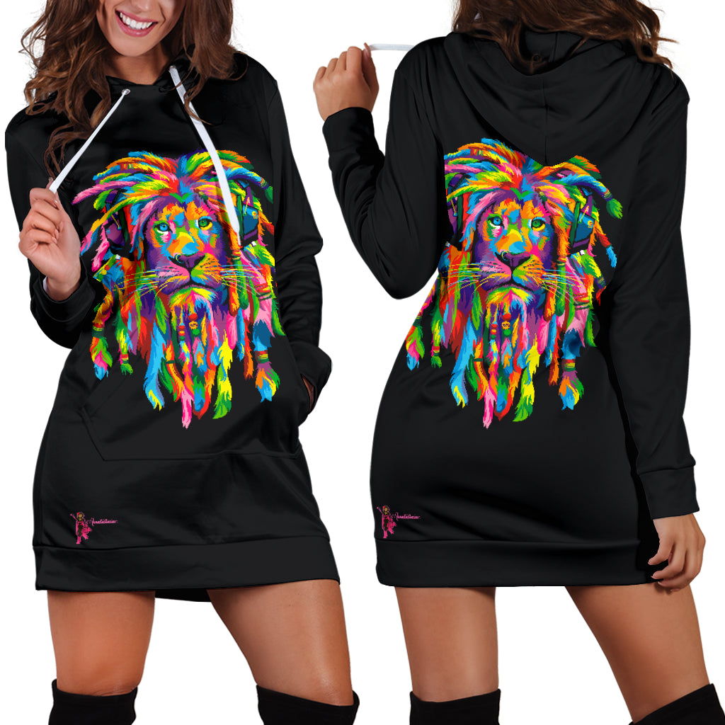 All of our Hoodie Dresses are custom-made-to-order and handcrafted to the highest quality standards. Each hoodie is constructed from a premium polyester blend that is ultra-soft and incredibly comfortable.